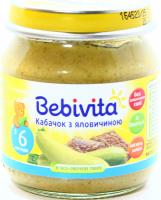 Пюре Bebivita м`ясо-овочеве Кабачокз яловичиною 100г х6