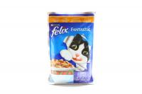 Корм Felix Fantastic з куркою та томатами для котів 100г х60