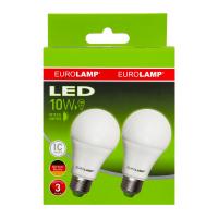 Лампа EuroLamp LED 10W E27 4000K м`яке світло 2шт.