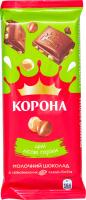 Шоколад Корона Молочний з лісовими горіхами 90г
