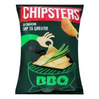 Чіпси Flint Chipster`s хвилясті сир та цибуля 120г х16