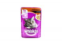 Корм Wiskas д/котів з індичкою в соусі 100г х24