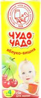 Сік Чудо-Чадо яблуко-вишня 200мл