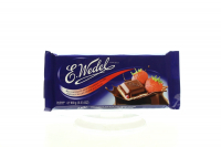 Шоколад Wedel молочний з полуничною начинкою 100г х20