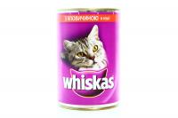 Корм Wiskas для кішок з яловичиною в соусі 400г х6