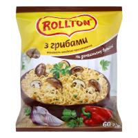 Локшина Rollton яєчна з грибами 60г