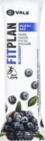 Батончик Fitplan вітамін. з чорницею глазур. 25г х12
