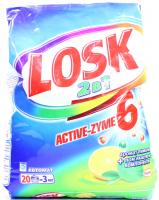 """Пральний порошок з пом'якшуючими компонентами Losk 2в1 Active-Zyme 6 """"Лимон"""" Автомат, 3 кг"""