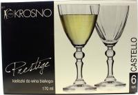 Бокали Krosno для вина Prestige Castello 170мл 6шт.