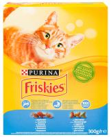 Корм Purina Friskies для котів з лососем та овочами 300г