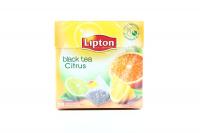 Чай Lipton Чорний байховий з цедрою цитрусових 20пак 36г х12