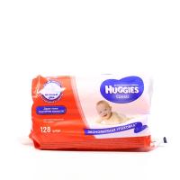 Серветки Huggies дитячі вологі Classic 128шт.