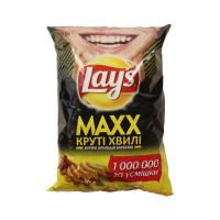 Чіпси Lays Max Круті хвилі курячі крильця барбекю 120г х20