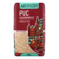 Рис Art Foods довгозернистий нешліфований 1000г
