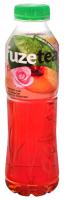 Напій FuzeTea чорний чай за смаком персик-троянда пет 0,5л