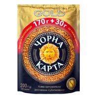 Кава Чорна карта Gold розчинна 200г х6