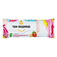 Морозиво Три ведмеді Полуничний йогурт та злаки 80г х6