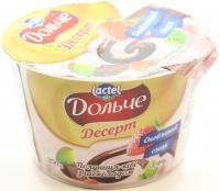 Йогурт Lactel Дольче полуниця-ківі з шоколадом 3,4% 200г х12