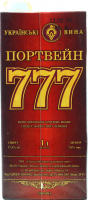 Вино Українські вина Портвейн 777 червоне кріплене 1л B&B х6