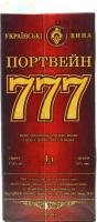 Вино Українські вина Портвейн 777 червоне кріплене 1л B&B
