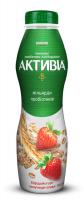 Біфідойогурт Активіа питний Полуниця-Злаки 1,5% ПЕТ 550г