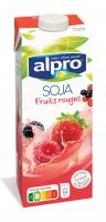 Напій соєвий Alpro червоні фрукти 1л