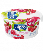 Йогурт Alpro соєвий з малиною та журавлиною ст 150г Бельгія х6