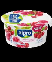 Йогурт Alpro соєвий з малиною та журавлиною 150г