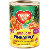 Ананас Tropic Life кільця у власному соку 580мл
