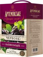 Вино Артемівське столове червоне напівсолодке 9-13% 3л B&B