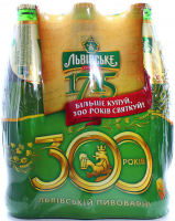 Пиво Львівське 1715 світле 6*0,45л