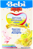 Каша Kolinska Bebi Premium фруктово-злакове асорті250г х12