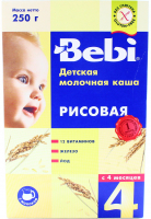 Каша Kolinska Bebi молочна, рисова 300г x12