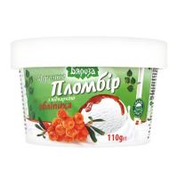 Морозиво Белая Бяроза Пломбір Обліпиха к/стакан 110г х18