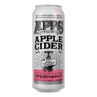 Сидр Apps Apple Яблучний Грейпфрут солодкий газований 5,5% 0,5л ж/б