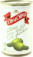 Оливки Diva Oliva зелені з огірочком ж/б 314мл