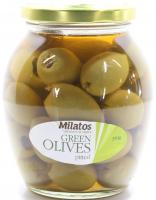 Оливки Milatos зелені без кісточки 350г с/б