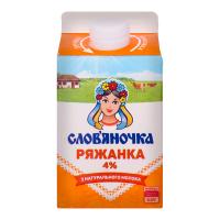 Ряжанка Слов`яночка 4% pure-pak 450г х12