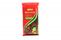 Шоколад Корона Чорний з лісовими горіхами 90г х20