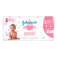 Серветки Johnsons Baby Лагідна турбота дитячі 112шт х6