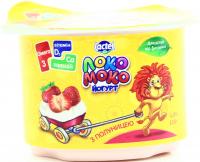 Йогурт Lactel Локо Моко з наповнювачем Полуниця 1,5% 115г