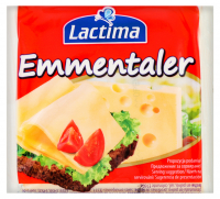 Сир плавлений Lactima Emmentaler нарізаний скибками 130г