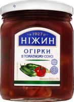 Огірки консервовані Ніжин в томатному соусі с/б 450г х12
