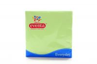Серветки паперові столові Eventa Everyday 33*33см Зелені, 20 шт.