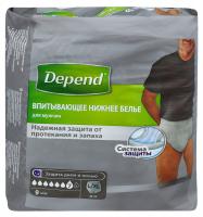 Труси-підгузники Depend для чоловіків L/XL 9шт. х6