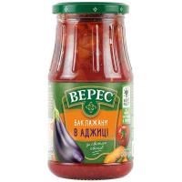 Баклажани Верес в аджиці зі свіжих овочів с/б 500г