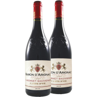 Набір вина Cabernet Sauvignon чер/сух, ТМ Baron d'Arignac, Франція, 2*0,75л
