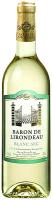 Вино Baron De Lirondeau Blanc sec 0.75л