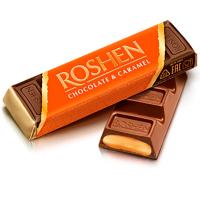 Батончик Roshen Батон мол.-шоколадний карамель 40г