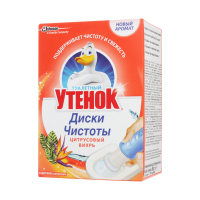 Диски чистоти Туалетне Каченя Цитрусовий вихор 6шт. 38г